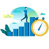 Flache Vektorillustration der Leistungsfähigkeit für Mobile und Webgraphiken