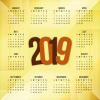 Abstrakt elegant nyår 2019 kalender bakgrund