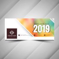 Guten Rutsch ins Neue Jahr 2019 moderne Banner vektor