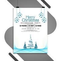 Abstrakt Merry Christmas Celebration Flyer Template vektor