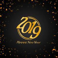 Bunter dekorativer Hintergrund des guten Rutsch ins Neue Jahr 2019 vektor