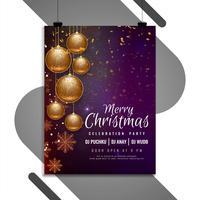 Abstrakte Feierfliegerschablone der frohen Weihnachten vektor