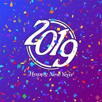 Abstrakt Gott nytt år 2019 firande bakgrund vektor