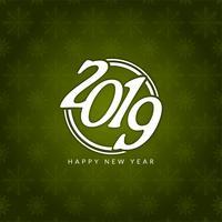 Stilvoller Grußhintergrund des guten Rutsch ins Neue Jahr 2019 vektor