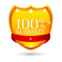 100% Garantie-Abzeichen