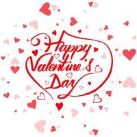 Vacker valentins dag kort bakgrund illustration vektor