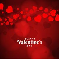 Abstrakt Glad Valentinsdag hälsning bakgrund vektor
