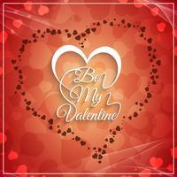 Abstrakt Glad Valentinsdag vacker bakgrund vektor