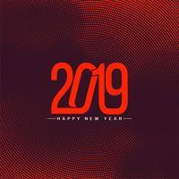 Moderner Feierhintergrund des neuen Jahres 2019 vektor