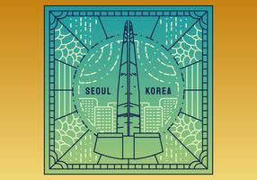 Enastående Seoul vektorer