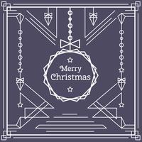 Linearer Weihnachtskarten-Vektor vektor