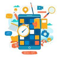 Mobil applikationsutvecklingsprocess vektor