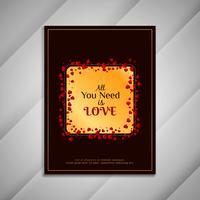 Sammanfattning Glad hjärtans dag hälsning crad design presentation