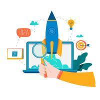 Geschäftsprozess-Startvorgang vektor