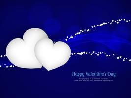 Abstrakt Glad Valentinsdag elegant bakgrund vektor