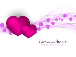Abstrakt Glad Valentinsdag vågig bakgrund vektor