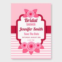 Brautparty-Einladungs-Schablonen-Vektor