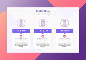 Testimonial-Webseiten-Vektordesign
