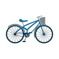 Retro-Fahrradfahrzeug isolierte Symbol vektor