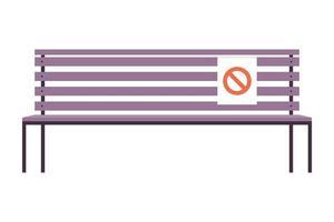 Parkstuhl mit Sitzverbotssignal vektor