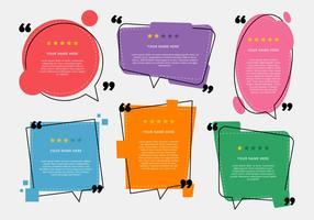 Testimonial Design Vektor