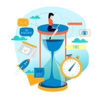 Tidshantering, planeringshändelser, företagsorganisation vektor