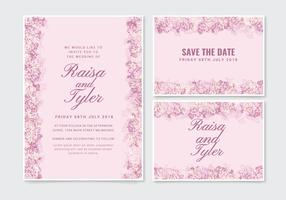 Vektor-zarte Hochzeitseinladung