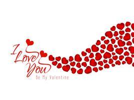 Abstrakter glücklicher reizender Hintergrund des Valentinstags vektor