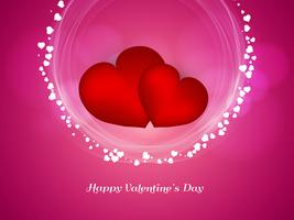 Abstrakter glücklicher reizender Hintergrund des Valentinstags