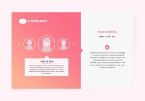Testimonials webbsida design vektor