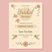 Brautduschen-Einladungs-Vektor