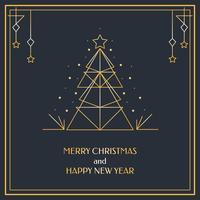 Geometrische Weihnachtskarte Vektor
