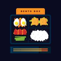 Bento-Box-Vektor vektor