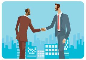Vektor mit zwei internationalen Geschäftsleuten