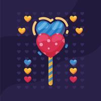 Valentinstag Süßigkeiten Herzen Vektor