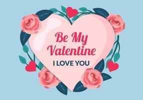 Schöner Valentinstag-Rahmen vektor