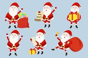 Santa Claus uppsättning vektor