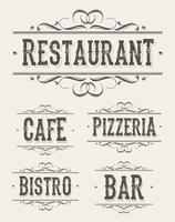 Vintage Restaurant und Pizzeria Banner vektor