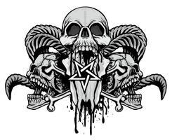 grunge skalle vapensköld