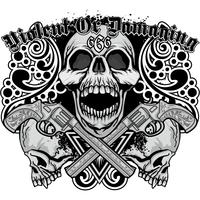 Gotiskt tecken med skalle, grunge vintage design t shirts vektor