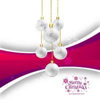 Schöner Feierkartenhintergrund der frohen Weihnachten vektor
