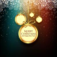Bunter Hintergrund der Feierkugel der frohen Weihnachten vektor