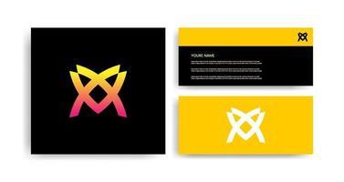 kreatives Logo-Design mit Visitenkarte vektor