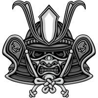 Samurai-Schädel-Zeichen