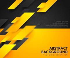 abstrakte gelb-orange und schwarz kontrastieren background.tech futuristisches Corporate Design. geometrische Illustration für Broschüren, Flyer, Webgrafikdesign. vektor