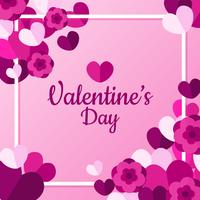 Valentinstag-Rahmen-Vektor vektor