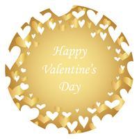 Abstrakter runder Hintergrund des Valentinstags mit Textplatz. vektor