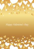 Abstrakter nahtloser Hintergrund des Valentinstags. vektor