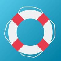 Rettungsring-Symbol. Vektor-Illustration vektor