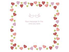 Quadratischer Rahmen für den Valentinstag usw.